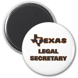 Texas Legal Secretary 2 Inch Round Magnet