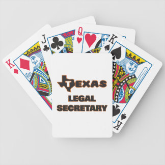 Texas Legal Secretary Bicycle Playing Cards