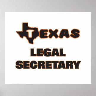 Texas Legal Secretary Poster