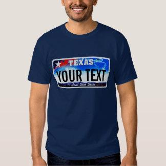 Texas license plate tees