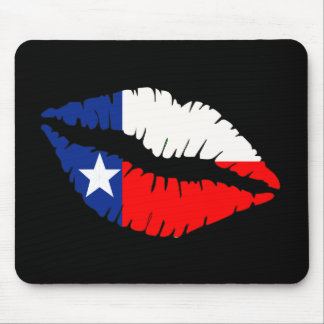 Texas Lips Mouse Pad