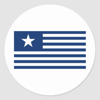Texas Lone Star and Stripes - Blue Classic Round Sticker