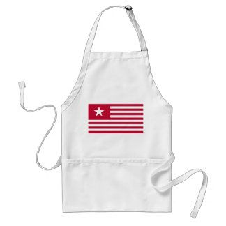 Texas Lone Star and Stripes - Red Adult Apron