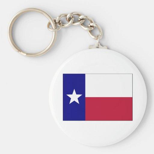 Texas Lone Star Flag Key Chain