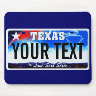 Texas lone star license plate mouse pad