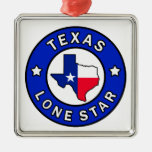 Texas Lone Star Metal Ornament