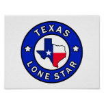 Texas Lone Star Poster