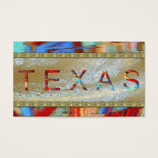 Texas Lone Star State Austin business Cards