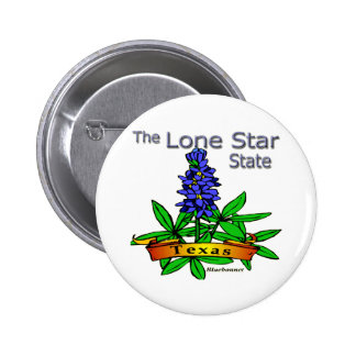 Texas Lone Star State Bluebonnet Pinback Button