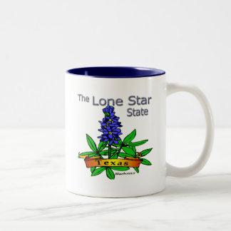 Texas Lone Star State Bluebonnet Two-Tone Coffee Mug