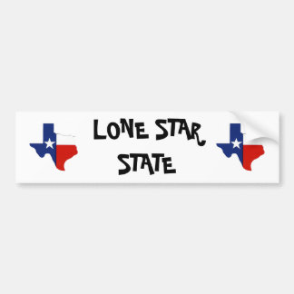 Texas Lone Star State Bumper Sticker