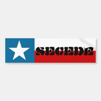 Texas Lone Star State Flag Secede Bumper Sticker