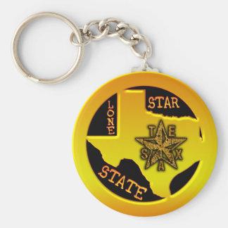 Texas Lone Star State Keychain