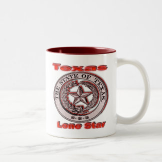 Texas Lone Star State Seal Two-Tone Coffee Mug