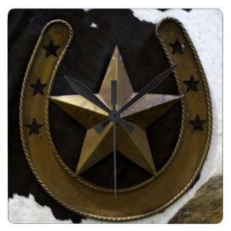 Texas Lone Star Wall Clock