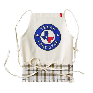 Texas Lone Star Zazzle HEART Apron