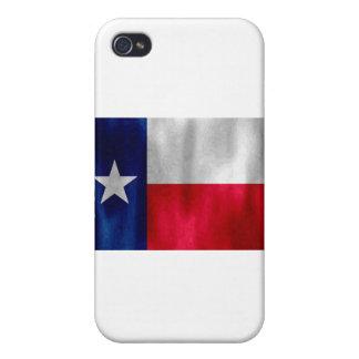 Texas Lonestar Flag in Digital Oil Cover For iPhone 4