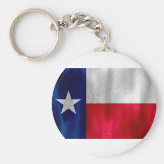 Texas Lonestar Flag in Digital Oil Basic Round Button Keychain