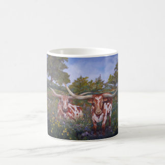 Texas Long Horns Classic White Coffee Mug
