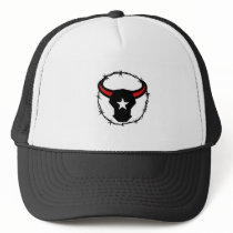 Texas Longhorn Barbed Wire Icon Trucker Hat