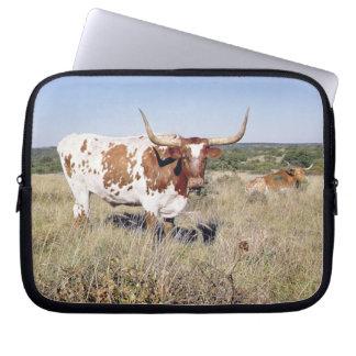Texas Longhorn Breed (photo) Laptop Computer Sleeves