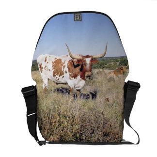 Texas Longhorn Breed (photo) Messenger Bag