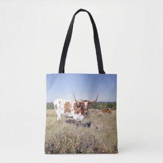 Texas Longhorn Breed (photo) Tote Bag