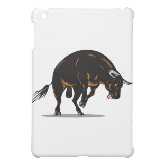 texas longhorn bull charging attacking iPad mini cases