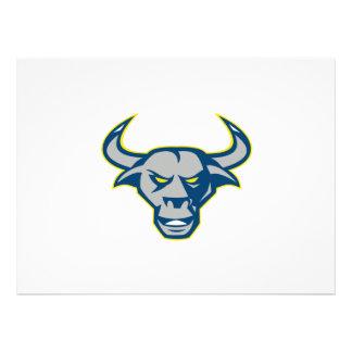 Texas Longhorn Bull Head Front Custom Invites