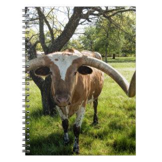 Texas Longhorn Bull Spiral Note Book