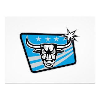 Texas Longhorn Bull Retro Invitation