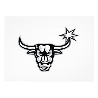 Texas Longhorn Bull Retro Invites