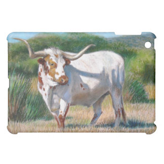 Texas Longhorn Bull Western Art Painting iPad Mini Cover