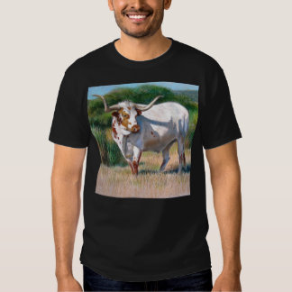 Texas Longhorn Bull Western Art Painting T Shirt