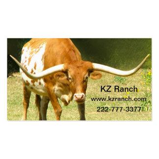 Texas Longhorn Business Card