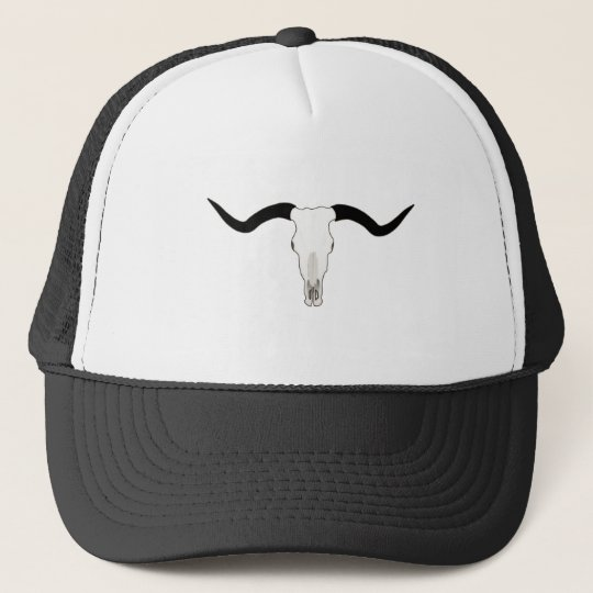 8013affa3a1 Texas Longhorn Cattle Skull - Horns Trucker Hat