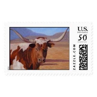 Texas Longhorn postage stamp