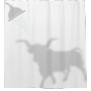 Texas Longhorn Shadow Silhouette Buddies Shower Curtain