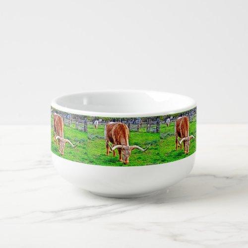 Texas Longhorn Soup Mug