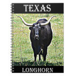 Texas Longhorn Spiral Note Book