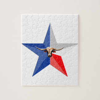 Texas Longhorn The Symbol of-Power multiple produc Jigsaw Puzzle