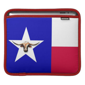 Texas Longhorn The Symbol of Power Rickshaw Messen Sleeve For iPads
