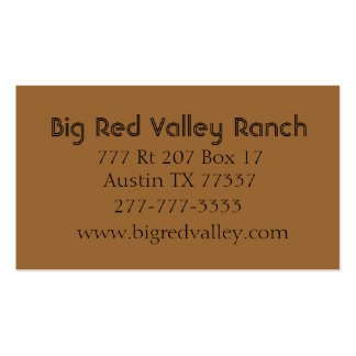 Texas Longhorn Up Close Two Sided Business Card