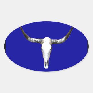 Texas Longhorn Z.jpg Oval Sticker