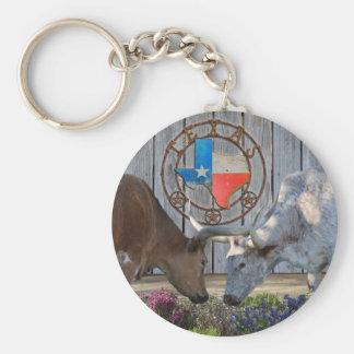 Texas Longhorns In Love Basic Round Button Keychain
