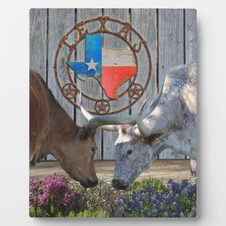 Texas Longhorns In Love Plaque