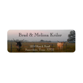 Texas Longhorns Return Address Labels