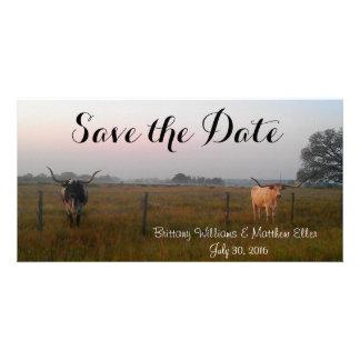 Texas Longhorns Save the Date card