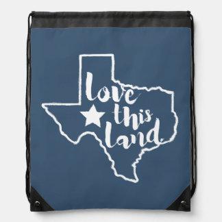 Texas Love This Land Drawstring Bag