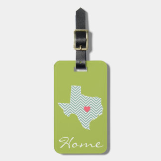 Texas Love with Custom Heart and Family Name Bag Tag